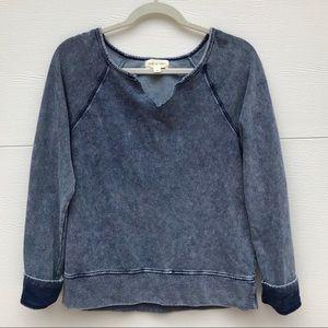Cloth & Stone Faded Distressed Style Sweatshirt